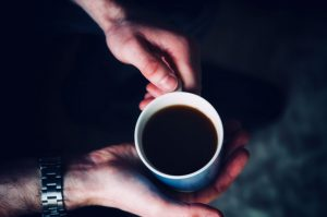 cup of coffee having Therapy stress depression IBS anxiety at Neil Cox Hypnotherapy Bude Cornwall