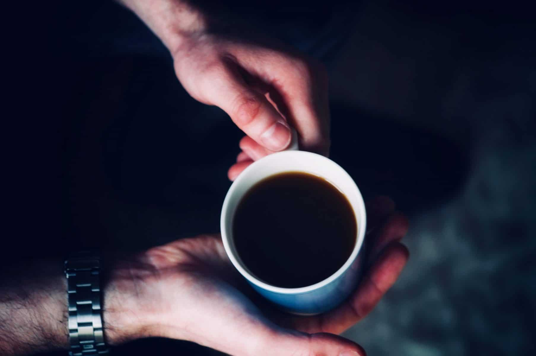 irritable bowel syndrome cup of coffee having Therapy stress depression IBS anxiety at Neil Cox Hypnotherapy St Austell Cornwall