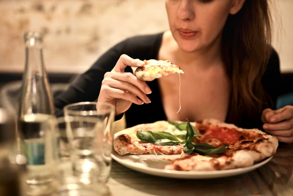 woman eating food habit